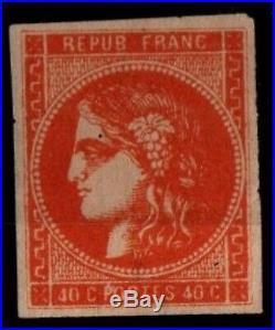Variété CERES 48f Ocre, Neuf SG = Cote 4.500 / Lot Classique France Bordeaux