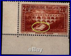 Variété du PONT du GARD 262b, Neuf = Cote 625 / Lot Timbre France