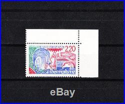 Variété timbre France thermalisme faciale rouge au lieu de bleu NUM 2556
