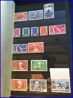 Vieille collection de timbres de France neufs / non tamponnés depuis Napoléon 3