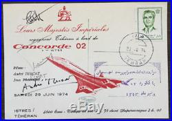 Vol Présidentiel Concorde F-WTSA ISTRES-TEHERAN 29.06.1974 signé André TURCAT