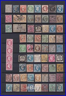 Vrac / Collection de timbres de France avec nombreux classiques A Voir