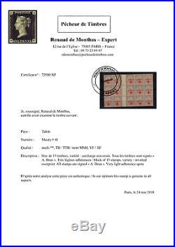 Xp72500/ Tahiti / Polynesia / Variety / Maury # 41 Mnh / Certificate / 13 800