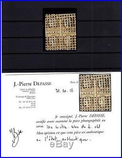Xp79355 / France / Certificat / Maury # 1 En Bloc De 4 Obl / Used 13000
